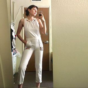 Luck Brand Jean white jumpsuit